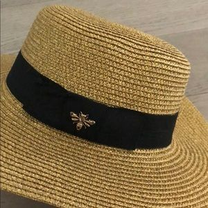 Accessories - Bee Bug Straw Golden Hat not Gucci